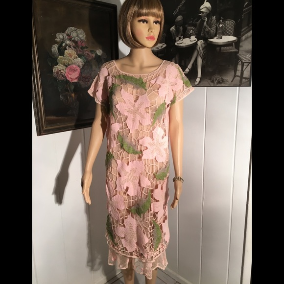 Lims Dresses Sale Vintage Lims Crochet Pink Dress Size S Poshmark